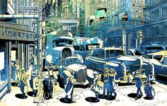 Type88  by  Hebmu11er   #art #illustration #manga #anime #dieselpunk #pixiv #scenery