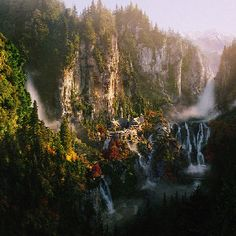 Rivendell. Thanks to every single person who helped in creating this beautiful landscape for the movie!