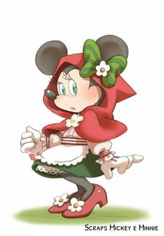 Minnie Mouse - Little Red Riding Hood Disney Time, Disney Fun, Disney Mickey, Mickey Mouse Art, Mickey Mouse And Friends, Minnie Mouse Pictures, Disney Pictures, Minie Mouse Party, Disney And More