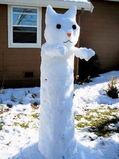 Мастерок.жж.рф - Современный снеговик