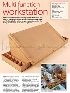 Carving Station Plans - Wood Carving