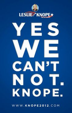 Knope 2012! Pawnee elections are today and the season finale of Parks and Rec is on tonight.