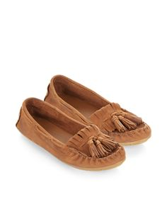Rosella Driving Moccasin Shoe | Brown | Monsoon