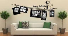 Appendere le foto al muro con lo spago