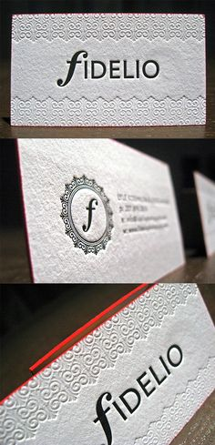 Edge Painted Textured Letterpress Business Card For A Wedding Photographer
