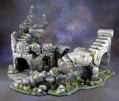 Warhammer Hero Quest Mordheim Decor Tour EN Ruine EN 4 Éléments | eBay
