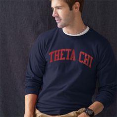 Campus Classics - Theta Chi Navy Long Sleeve Tee: $28.95
