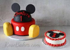 Rose Bakes | Mickey Mouse Cake and Smash Cake | http://rosebakes.com