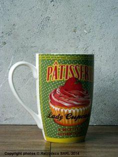 Mug Lady Cupcake, déco rétro, Natives Deco