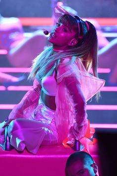 """Whoa — Ariana Grande's Song """"Side to Side"""" Is a Lot Dirtier Than We Thought We've had Ariana Grande and Nicki Minaj's hit """"Side to Side"""" stuck in our heads since their hot VMAs performance, but little did we know the actual Ariana Grande Images, Ariana Grande Fotos, Ariana Grande Cat, Ariana Grande Boyfriend, Mtv, Dangerous Woman Tour, Ariana Grande Dangerous Woman, Ariana Grande Wallpaper, Nicki Minaj"""