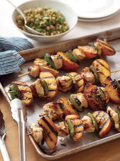 Heart Healthy Rosemary-Peach Chicken Kebabs with Orange Glaze | American Heart Association