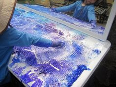 reggio emilia activities bubble wrap painting an everyday story Explorations for 2 Year Olds Playful Learning