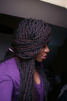 Long Senegal twist...I LOVE this style; I definitely have to get this done!