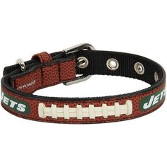 New York Jets Toy Size Classic Leather Dog Collar - $24.99