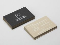 Duplex business card designed by Patrick Fry for Leadership Laboratories.