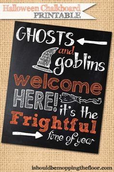 Halloween Chalkboard Printable