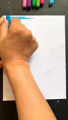 Crayon Painting, Canvas Painting Tutorials, Crayon Art, Diy Canvas Art, Art Drawings For Kids, Art Drawings Sketches Simple, Pencil Art Drawings, Art Deco Paintings, Art Painting Gallery