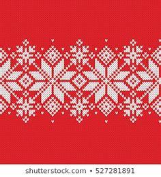 Cartera de chasiki en Shutterstock. Xmas Cross Stitch, Cross Stitch Borders, Cross Stitch Flowers, Cross Stitch Embroidery, Cross Stitch Patterns, Knitting Charts, Knitting Stitches, Knitting Designs, Scandinavian Tablecloths