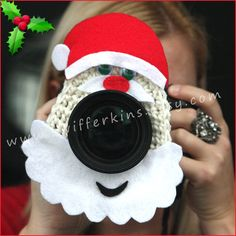 Santa Camera lens buddy. Crochet lens by KikisKreationsprops