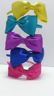 Satin Bow Headband Variety of Colors | eBay