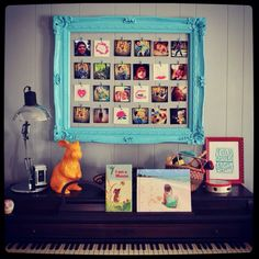 Beautify your walls with a wooden frame, twine, pegs and, of course, Printicular Prints. #DIY #Crafts