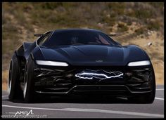 2016 Ford Mustang...IDK if I like it but it kind of looks like a batmobile
