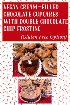 Vegan Gluten Free, Gluten Free Recipes, My Recipes, Whole Food Recipes, Chocolate Chip Frosting, Chocolate Cupcakes, Chocolate Lovers, Treats, Breakfast