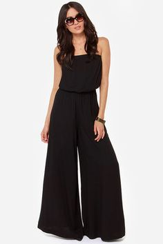 BB Dakota Nahal Strapless Black Jumpsuit      Jumpsuits and Maxi's are back for 2014
