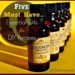 Five MUST HAVE Essential Oils for DIY Recipes--plus homemade bathroom cleaners
