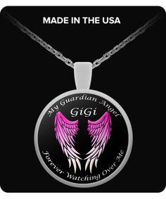 GiGi Guardian Angel Round Pendant - Pink gigardp
