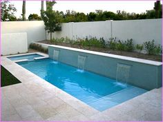 Rectangle pool landscaping ideas modern swimming pool designs rectangle backyard pools back yard swimming pool designs . Pool Spa, Small Swimming Pools, Swimming Pools Backyard, Swimming Pool Designs, Swiming Pool, Home Swimming Pool, Home Pool, Swimming Ponds, Olympic Swimming
