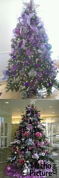 Purple christmas tree - 3 PHOTO!