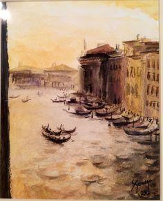 Venecia, acuarela (copiado de Ramón Gaya)