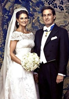 "Wedding portrait by photographer Ewa Marie Rundquist; wedding of Princess Madeleine of Sweden and mr. Christopher ""Chris"" O'Neill, June 8th 2013"