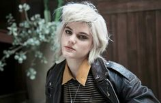 Soko in their leather jacket