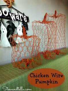 chicken wire pumpkins, crafts, repurposing upcycling, seasonal holiday d cor, How to make a chicken wire pumpkin