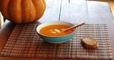 Velouté de potiron, patate douce et carottes