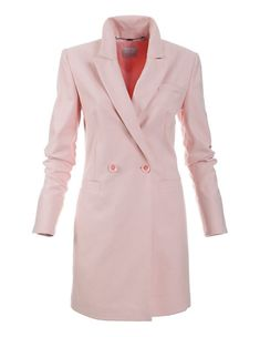 Kurzmantel im Blazer-Stil | MADELEINE Mode Österreich Mantel Trenchcoat, Elegantes Outfit, Blazer, Double Breasted Suit, Suit Jacket, Suits, Fashion, Pink, Simple Elegance