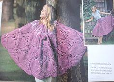 Vintage CROCHET PDF PATTERN Pineapple design poncho or skirt one