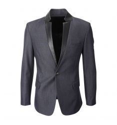 FLATSEVEN Men's Double Breasted Wool Blend Tweed Blazer Jacket with Peaked Lapel (BJ490) - Blazers #BLACKFRIDAY #CYBERMONDAY #MENS CLOTHING #MENSJACKET #MENSBLAZER #MENSFASHION #FASHIONFORMEN