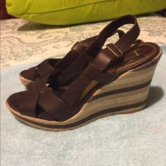 Women's leather wedge sandal EUC and worn only a few times. Shoes Wedges