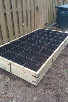 Great Example of the Square Foot Gardening  Method For Vegetable Planter Box. (no source here)