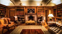 Library at Luttrellstown Castle Resort