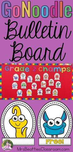 Do your students love GoNoodle as much as mine? Welcome them back to school and get them excited for this year's brain breaks with this FREE GoNoodle bulletin board printable! This completely editable file includes all 25 GoNoodle Champs and the lettering