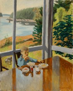 Fairfield Porter (American, 1907-1975) - Boy at breakfast - Parrish Art Museum, Southampton.