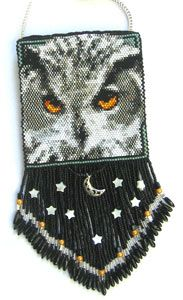 Silverhill Design - Bead Pattern for White Owl amulet bag
