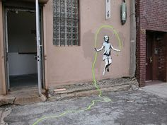banksy art i want to see in person while I'm in New York.    This one is in Brooklyn near 6th and Kent.