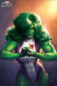 #She #Hulk #Fan #Art. (She-Hulk women of power In: Marvel Puzzle Quest! Art) By: AMADEUS CHO! (THE * 5 * STÅR * ÅWARD * OF: * AW YEAH, IT'S MAJOR ÅWESOMENESS!!!™)[THANK Ü 4 PINNING<·><]<©>ÅÅÅ+(OB4E)    https://s-media-cache-ak0.pinimg.com/474x/39/5f/6e/395f6ecd47a717f966a00f17c2a400ca.jpg