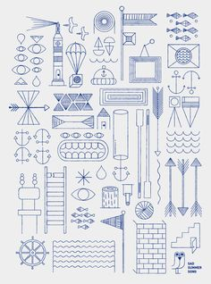 Jonathan Calugi - blue print illustration   #illustration #jonathancalugi