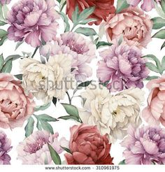 Stock Images similar to ID 282689729 - seamless floral pattern with...